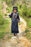 PONGSALI, LAOS - APRIL 2014: indigenous tribal Akha Village Royalty Free Stock Image