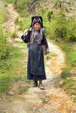 PONGSALI, LAOS - EM ABRIL DE 2014: vila tribal nativa de Akha Imagem de Stock Royalty Free