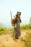PONGSALI LAOS, KWIECIEŃ, - 2014: miejscowa plemienna Akha wioska Zdjęcia Stock