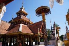 Pongsanook Temple Lampang. Lanna Style,Northern of Thailand royalty free stock photo