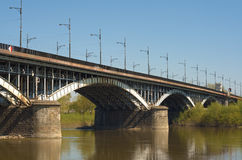 Poniatowski Bridge Royalty Free Stock Images