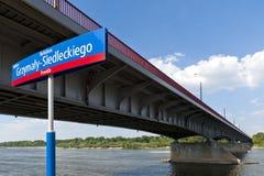 Poniatowski bridge over Vistula river Stock Photography
