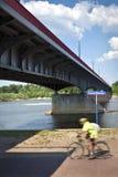 Poniatowski bridge over Vistula river Stock Photos