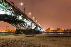 Poniatowski bridge over Vistula river in Warsaw Stock Photos