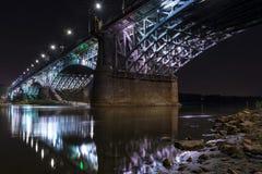 Poniatowski bridge over Vistula river  in Warsaw, Poland Royalty Free Stock Photos