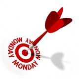Poniedziałku cel Zdjęcie Stock