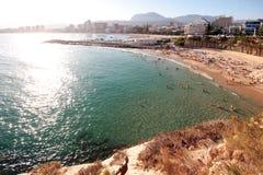 poniente пляжа Стоковые Фотографии RF