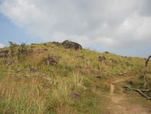 Ponmudi kullestation, nära Thiruvananthapuram, Kerala Royaltyfri Bild