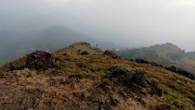 Ponmudi kullestation, nära Thiruvananthapuram, Kerala Arkivfoton