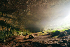 Ponoare Cave. Ponoarele is a commune located in Mehedinţi County, Romania Stock Images