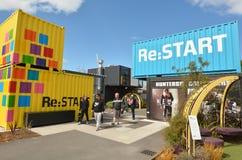 Ponowny: POCZĄTEK centrum handlowe w Christchurch, Nowa Zelandia - Obraz Stock