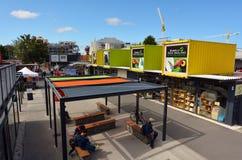 Ponowny: POCZĄTEK centrum handlowe w Christchurch, Nowa Zelandia - Zdjęcia Royalty Free