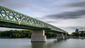Ponowny Stary most w Bratislava fotografia royalty free