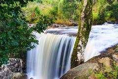 Ponpobmai waterfall in Phu Kradueng National Park, Loei province Royalty Free Stock Photography