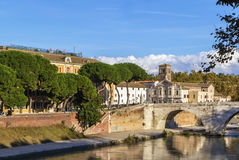 Pons Fabricius, Rome Royalty Free Stock Images
