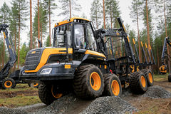 Ponsse Buffalo Forwarder in a Work Demo Royalty Free Stock Image