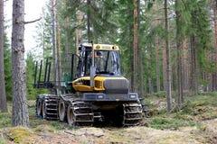 Ponsse Elk Forest Forwarder in Green Woodland stock images