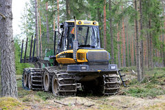 Ponsse Elk Forest Forwarder at Logging Site Stock Photos