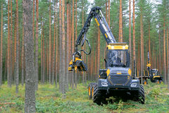Ponsse Harvester Ergo 8W at Work Stock Photography