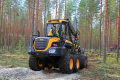 Ponsse Harvester Ergo in Work Demonstration Stock Photography