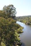 Ponsul flod som är skattskyldig av Tagus, Portugal Fotografering för Bildbyråer