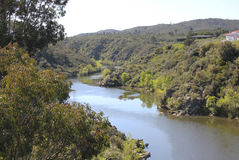 Ponsul River, tributary of Tagus, Portugal Royalty Free Stock Image