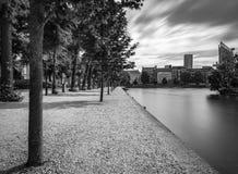 Pontón de flotación en Het Binnenhof el Hauge imagen de archivo