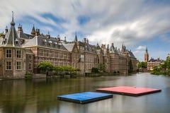 Pontón de flotación en Het Binnenhof el Hauge fotografía de archivo libre de regalías