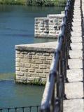 Pont圣徒Bénézet,阿维尼翁,法国建筑学细节  免版税库存图片