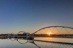 Pont à côté de Tempe Center pour les arts à Phoenix Arizona Images stock