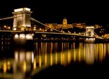 Pont à chaînes (Budapest) Photo libre de droits