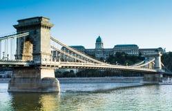 Pont à chaînes, Budapest, Hongrie Photographie stock