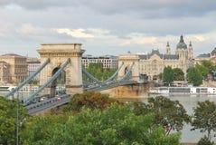 Pont à chaînes de Budapest Image stock