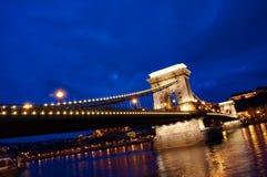 Pont à chaînes, Hongrie Photographie stock libre de droits