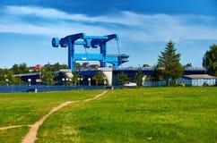 pont à l'île d'Usedom Image stock