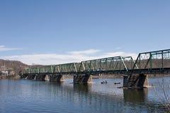 Pont à poutres Photos stock