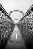 Pont à poutres de trellis d'héritage de Como Photo libre de droits