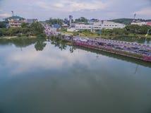 Pont à travers le lac Suan Luang Photo libre de droits
