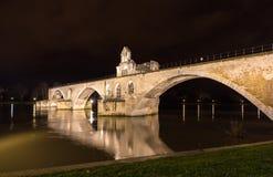 Pont Άγιος-Benezet σε Αβινιόν, μια περιοχή παγκόσμιων κληρονομιών στη Γαλλία Στοκ Φωτογραφία