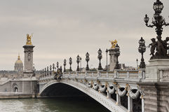 Pont Александр III в Париже стоковое фото