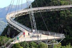Pont 01 en ciel de Langkawi Photos libres de droits