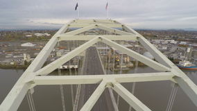 Pont aérien de Portland Fremont banque de vidéos