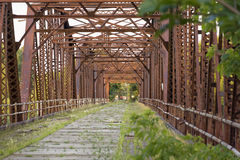 Pont abandonné image libre de droits