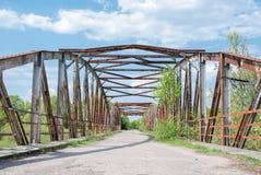 Pont abandonné en métal Image libre de droits