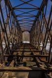 Pont abandonné et rare en chemin de fer de botte - Pennsylvanie Photos libres de droits