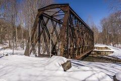 Pont abandonné et rare en chemin de fer de botte - Pennsylvanie Image stock