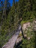 Pont accrochant sur un canyon en Suisse -2 Photographie stock
