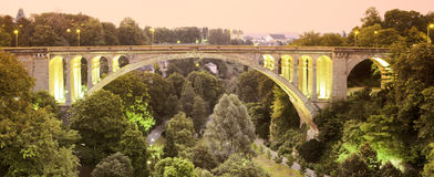 Pont adolphe bridge. Luxembourg europe Royalty Free Stock Photography
