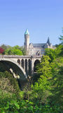 Pont Adolphe Bridge. A View of the Pont Adolphe bridge in the Luxembourg city Stock Photo