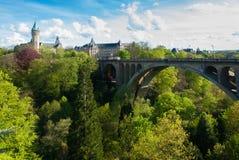 Pont Adolphe bro Luxemburg arkivbild